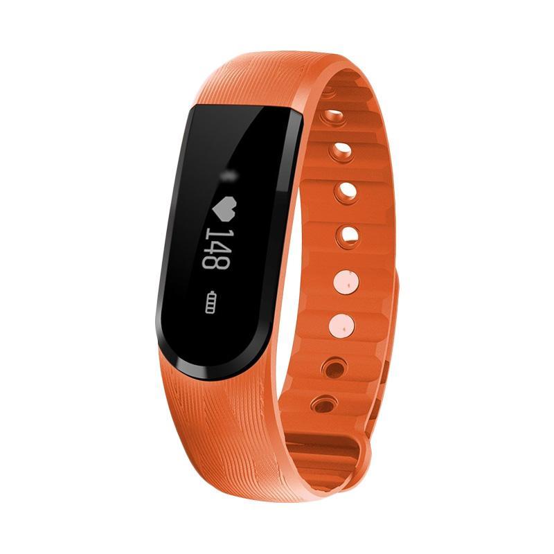 harga SOXY ID101 CC0354o Pedometer Fitness Tracker Heart Rate Monitor Bracelet Smartwatch for iPhone or Smartphone - Orange Blibli.com