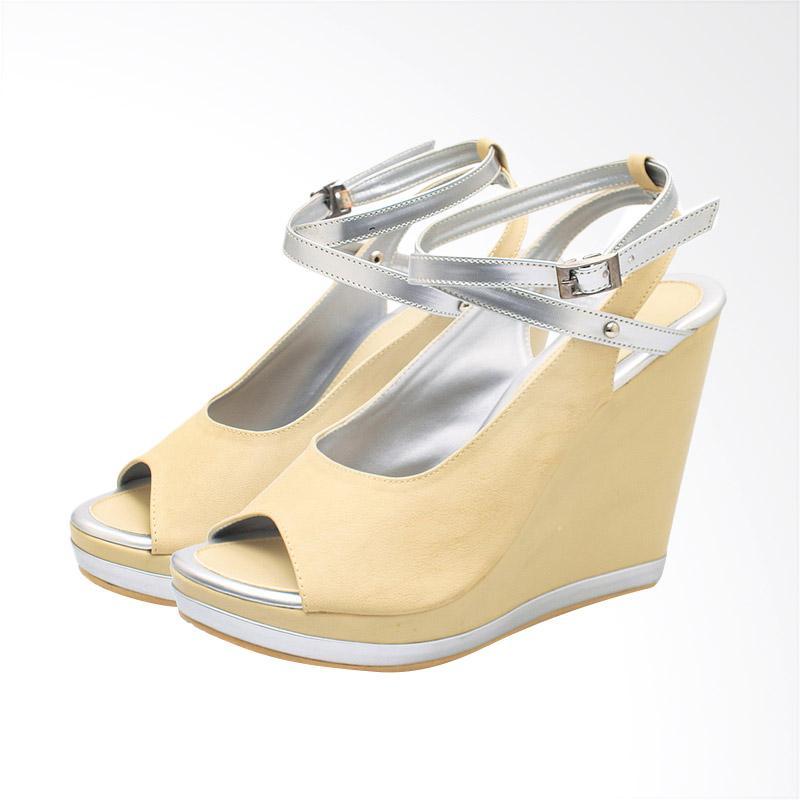 harga BSM SOGA BSP 156 Sepatu Wedges Wanita - Cream Blibli.com