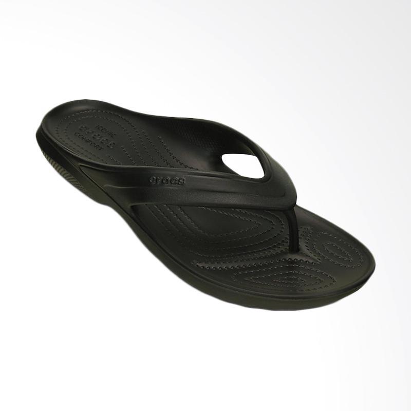 Crocs Classic Flip Sandal Pria - Black [CR202635001]