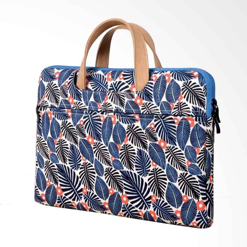 Cooltech Softcase Sleeve Leaves Printed Macbook Tas Laptop [13 inch]
