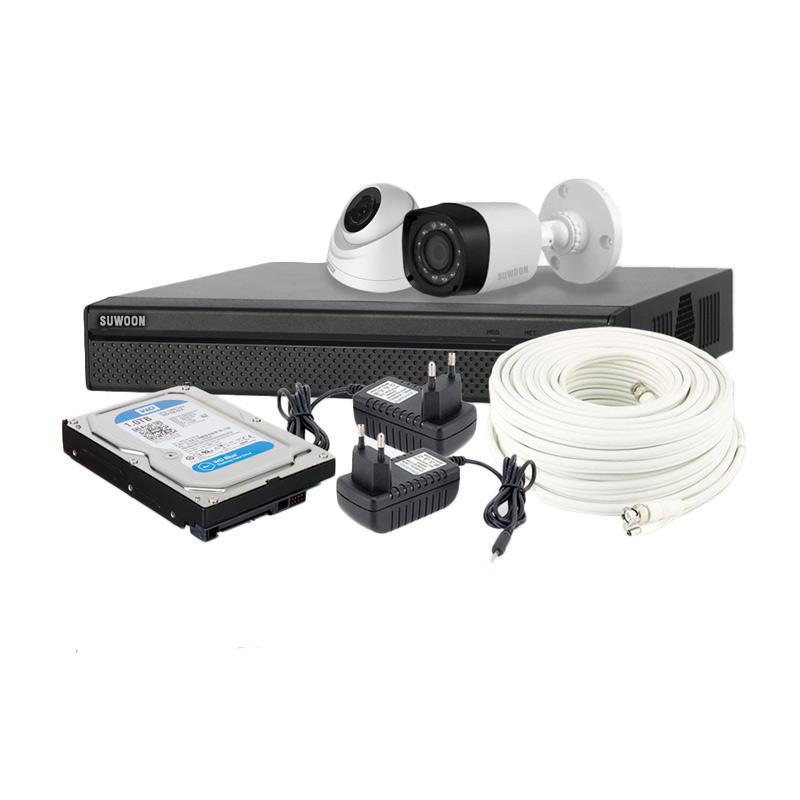 SUWOON Paket Komplit Kamera CCTV