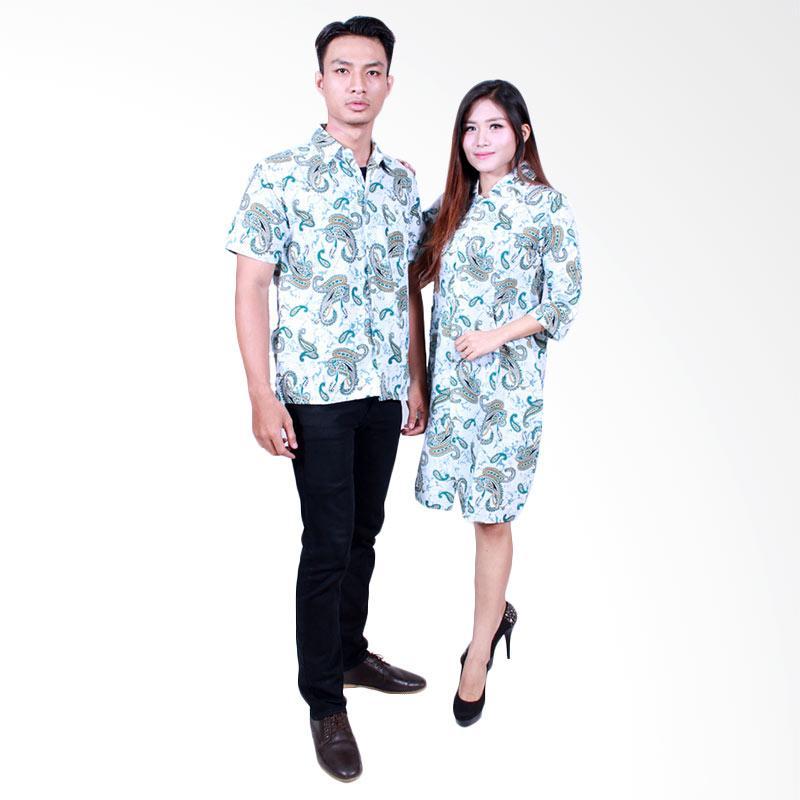 Batik Putri Ayu Solo SRD 501 Dress Katun Batik Couple - Hijau