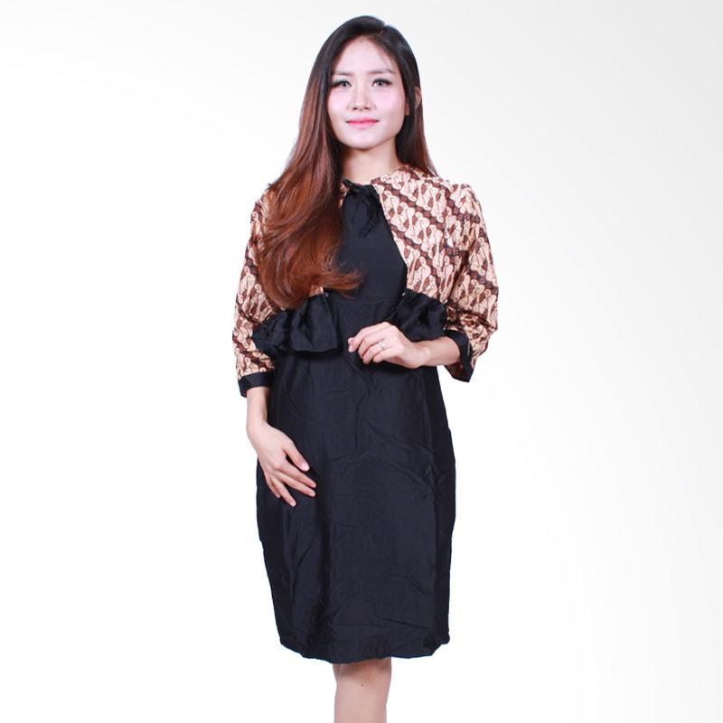 Batik Putri Ayu Solo D502-A Batik  Midi Dress