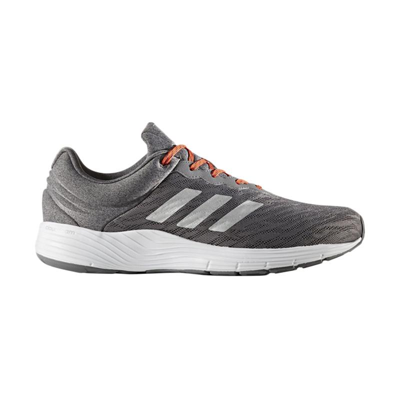 adidas Fluid Cloud Sepatu Lari Pria - Grey [Run-BB3327]