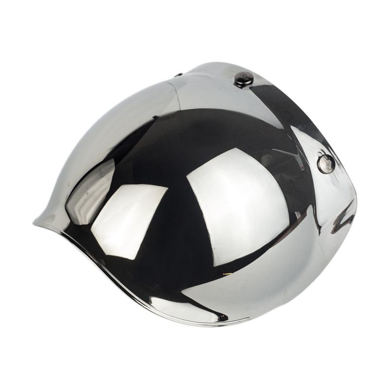 Boulter Helmet Bubble Shield Kaca Helm - Chrome Mirror