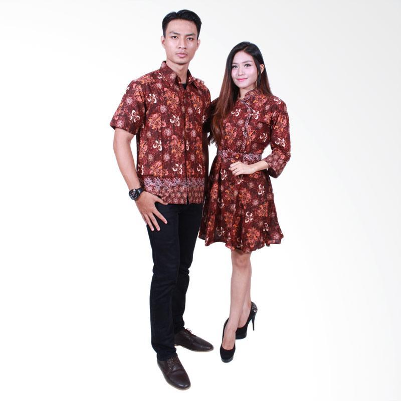 Batik Putri Ayu Solo SRD503 Batik Sarimbit Couple - Coklat