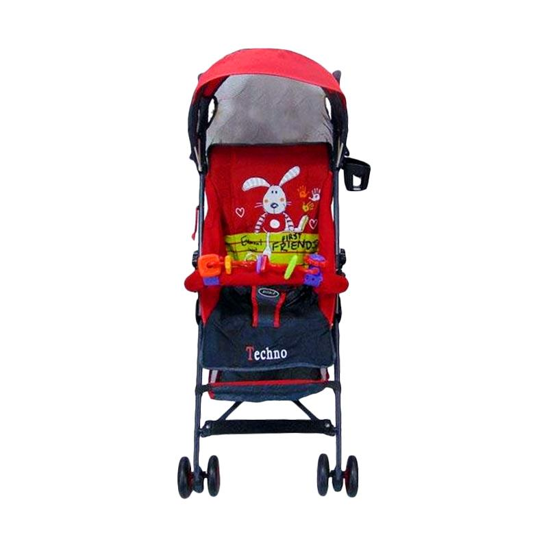 pliko pliko pk107 cgc buggy techno baby stroller   merah full03
