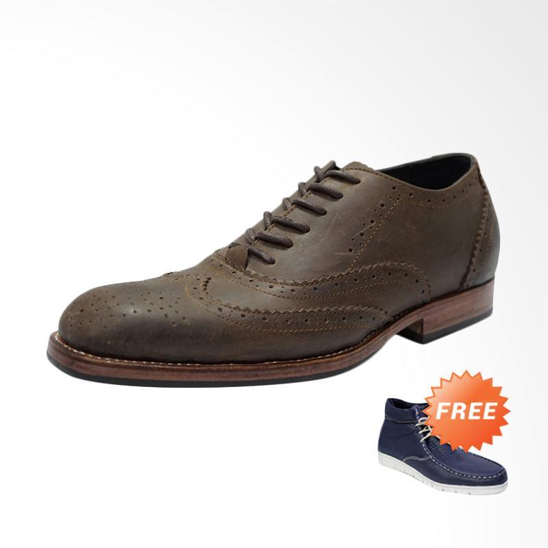 harga Dr.Faris Footwear Sepatu Premium w-001 Coklat + Free Sepatu Casual Kulit Original 86 Blibli.com