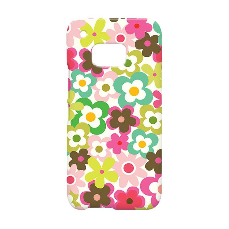 Premiumcaseid Cute Colorful Flower Hardcase Casing for HTC One M9