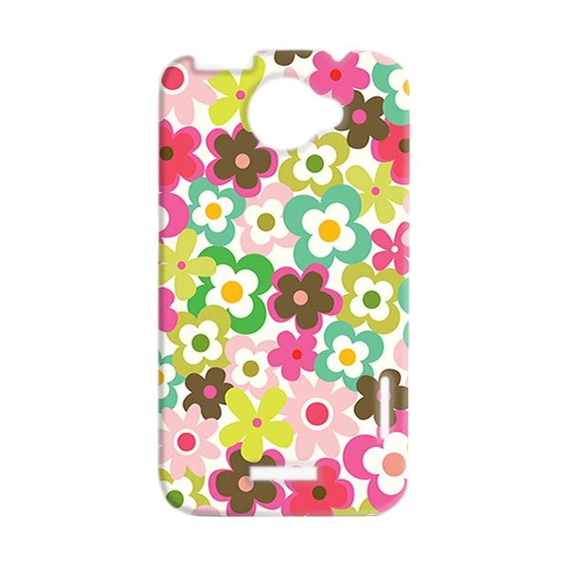 Premiumcaseid Cute Colorful Flower Hardcase Casing for HTC One X