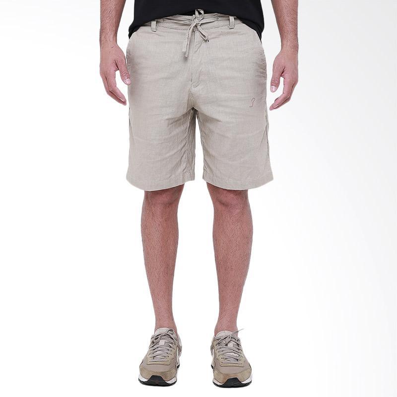 Tendencies Linen Short Celana Pria - Sand