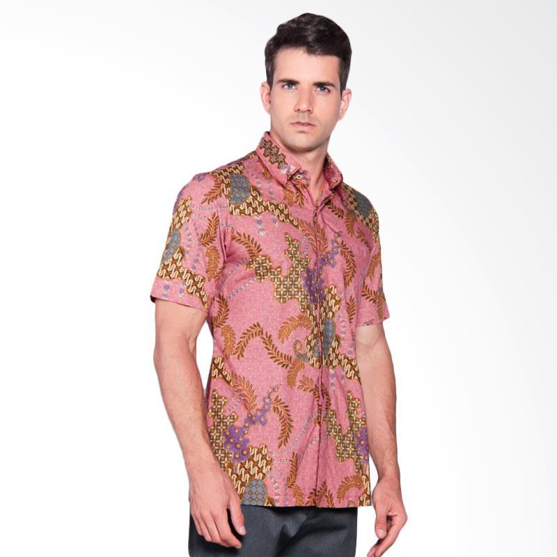 Batik Heritage Katun Premium Ekor Putri Slim Fit Kemeja Batik Pria - Peach