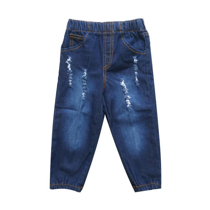 harga MacBear Kids Jeans Joger Boy Celana Anak - Dark Denim Blibli.com