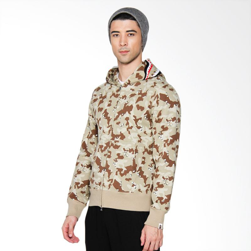 A Bathing Ape Bape Desert Camo Shark Full Zip Hoodie