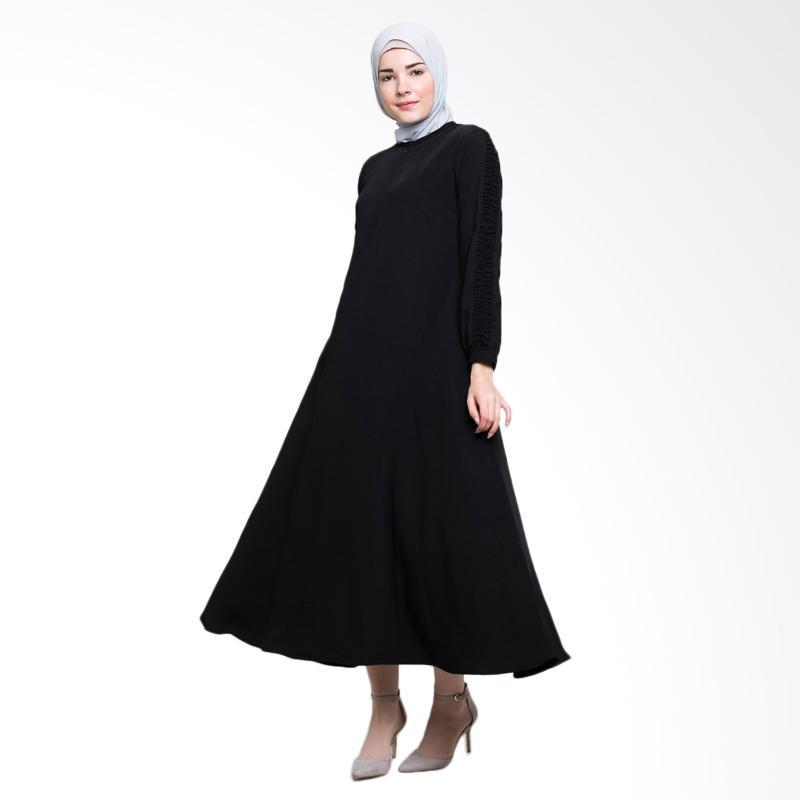 Allev Fariha Dress Muslim - Hitam