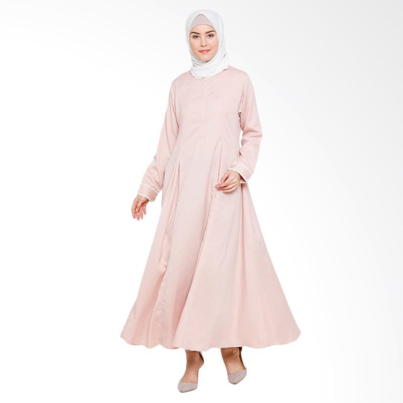 Allev Himaya Abaya Gamis Muslim - Peach