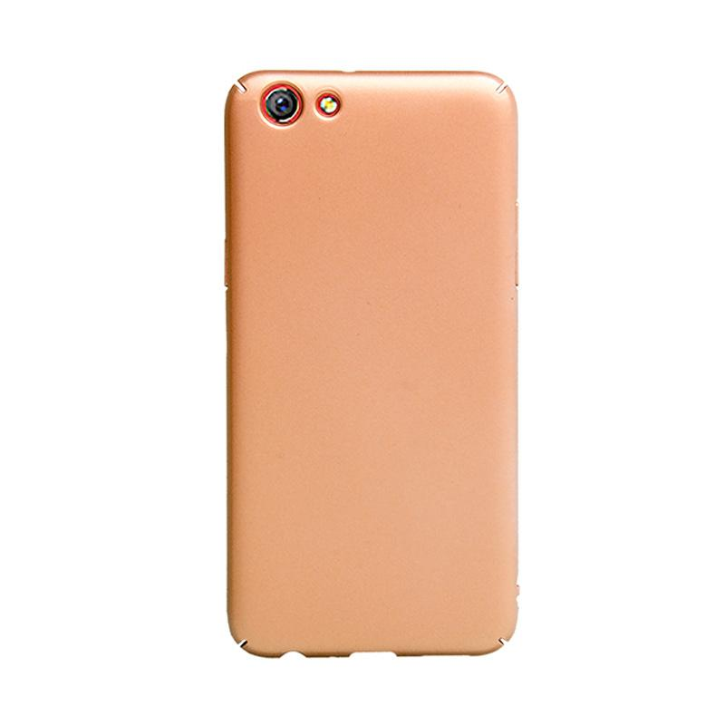 OEM Baby Skin Ultra Thin Hardcase Casing for Oppo F3 Plus - Gold