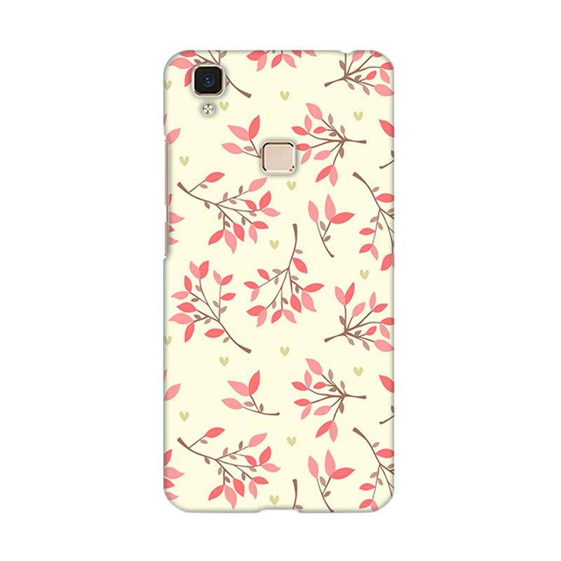 Premiumcaseid Cute Floral Seamless Shabby Hardcase Casing for Vivo V3