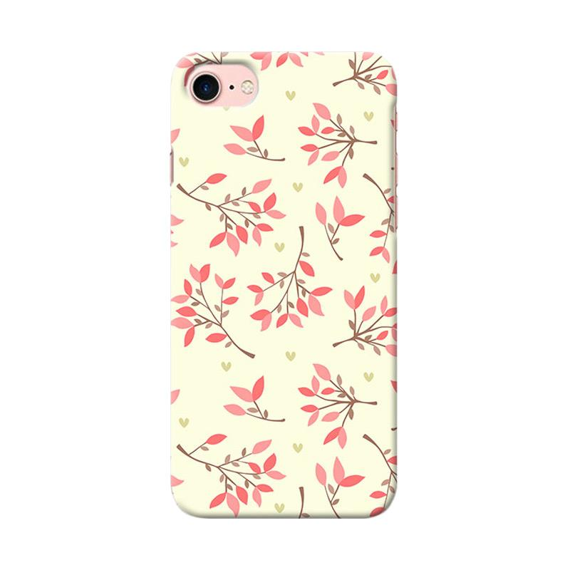 Premiumcaseid Cute Floral Seamless Shabby Hardcase Casing for iPhone 8