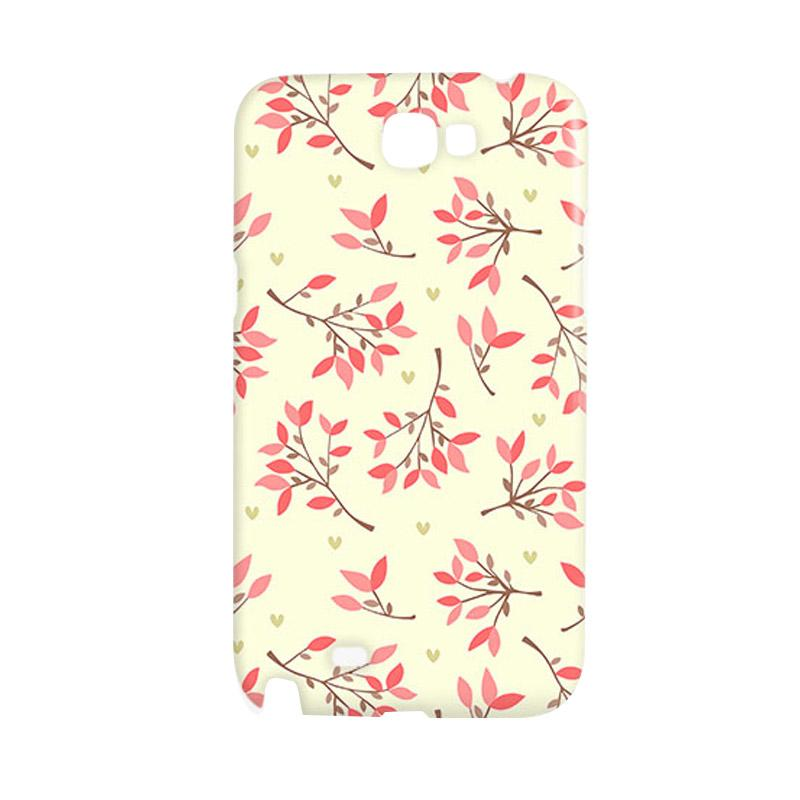 Premiumcaseid Cute Floral Seamless Shabby Hardcase Casing for Samsung Galaxy Note 2