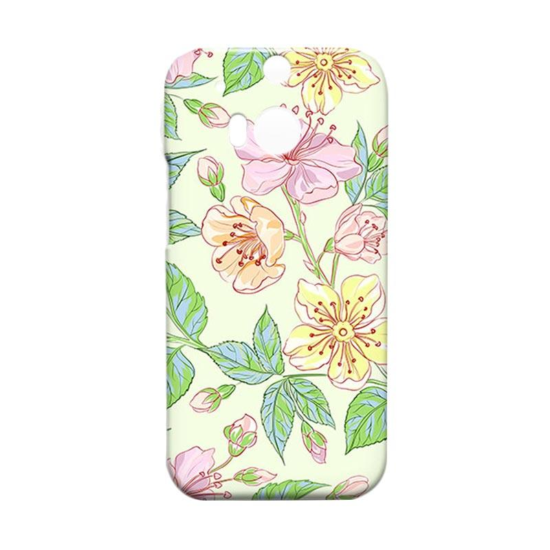 Premiumcaseid Beautiful Flower Wallpaper Hardcase Casing for HTC One M8