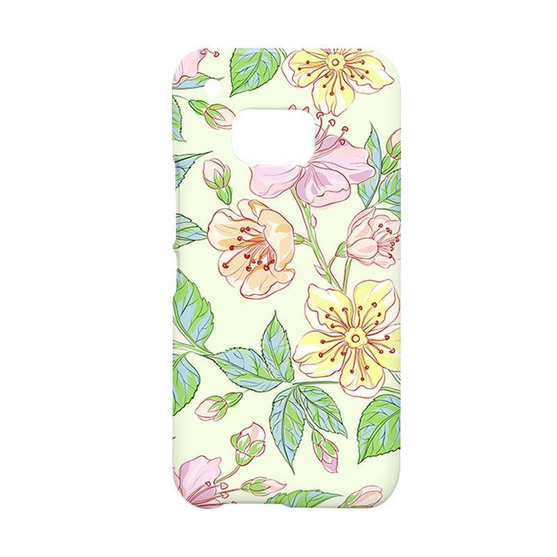 Premiumcaseid Beautiful Flower Wallpaper Hardcase Casing for HTC One M9