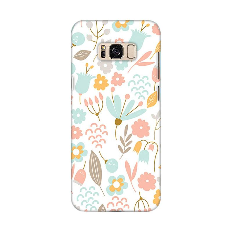 Premiumcaseid Case Cute Pastel Shabby Chic Floral Hardcase Casing for Samsung Galaxy S8