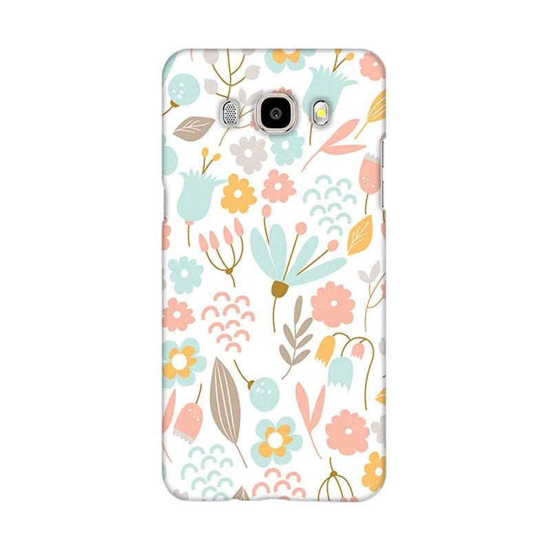 Premiumcaseid Cute Pastel Shabby Chic Floral Hardcase Casing for Samsung Galaxy J5 2016