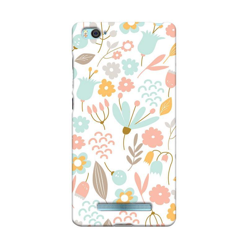 Premiumcaseid Cute Pastel Shabby Chic Floral Hardcase Casing for Xiaomi Mi 4i