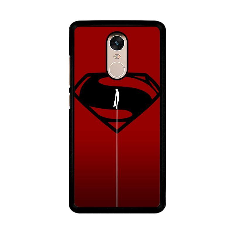 Flazzstore Superman Fly O0023 Custom Casing for Xiaomi Redmi Note 4 Note 4X Snapdragon Mediatek