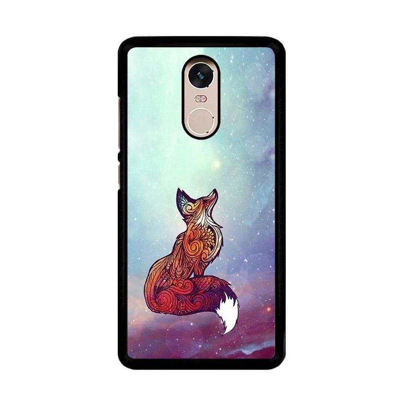 Flazzstore Imagine Fox O0128 Custom Casing for Xiaomi Redmi Note 4 or Note 4X Snapdragon Mediatek