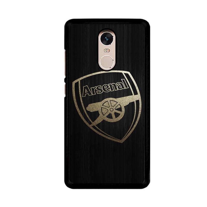 Flazzstore Arsenal Logo Gold O0487 Custom Casing for Xiaomi Redmi Note 4 or Note 4X Snapdragon Mediatek