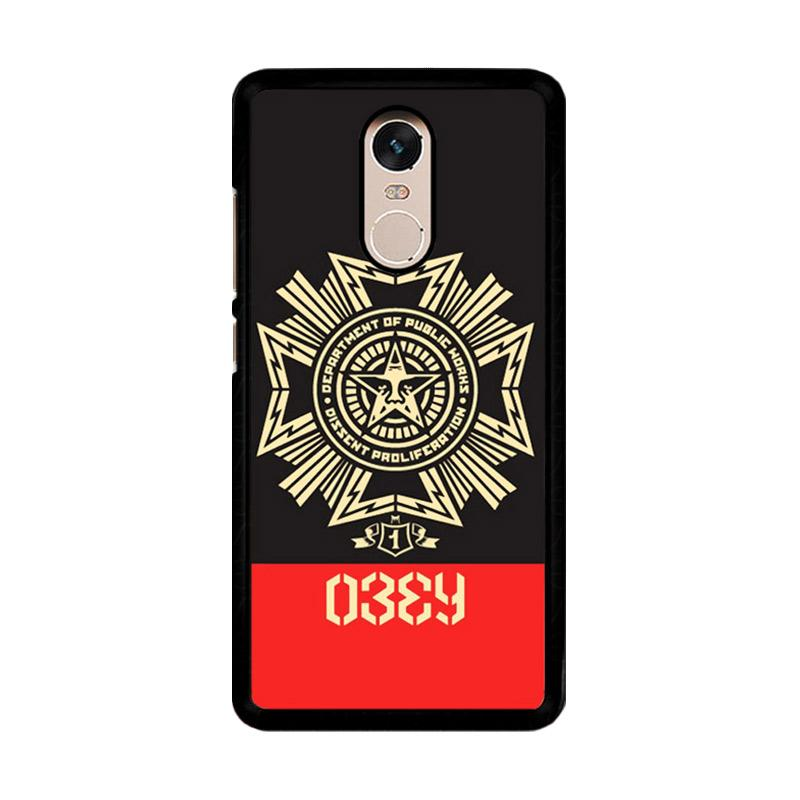 Flazzstore Obey Clothing O0726 Custom Casing for Xiaomi Redmi Note 4 or Note 4X Snapdragon Mediatek