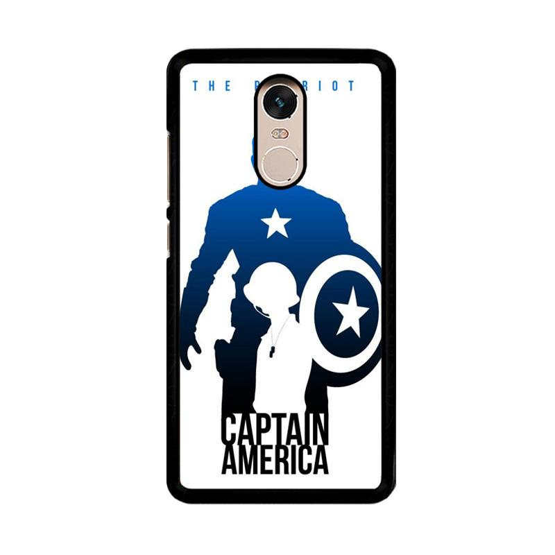 Flazzstore Captain America Avengers Texture Z0716 Custom Casing for Xiaomi Redmi Note 4 or Note 4X Snapdragon Mediatek