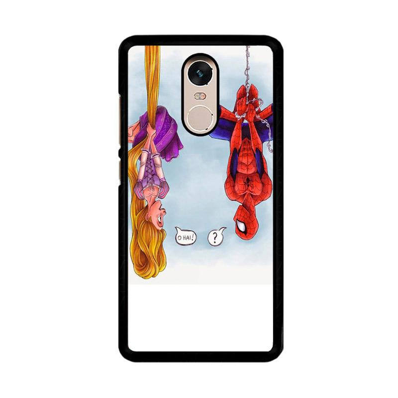 Flazzstore Disney Tangled And Spiderman F0399 Custom Casing for Xiaomi Redmi Note 4 Note 4X Snapdragon Mediatek