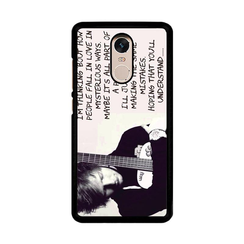Flazzstore Thinking Out Loud-Ed Sheeran Lyric F0702 Custom Casing for Xiaomi Redmi Note 4 or Note 4X Snapdragon Mediatek