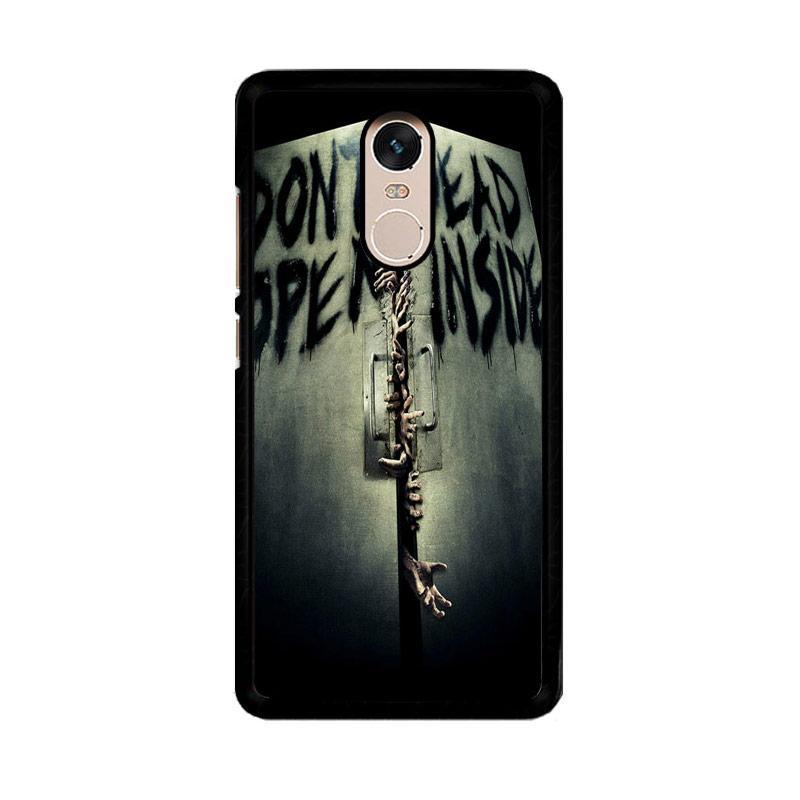 Flazzstore Open Dead Inside Zombie Z0146 Custom Casing for Xiaomi Redmi Note 4 or Note 4X Snapdragon Mediatek