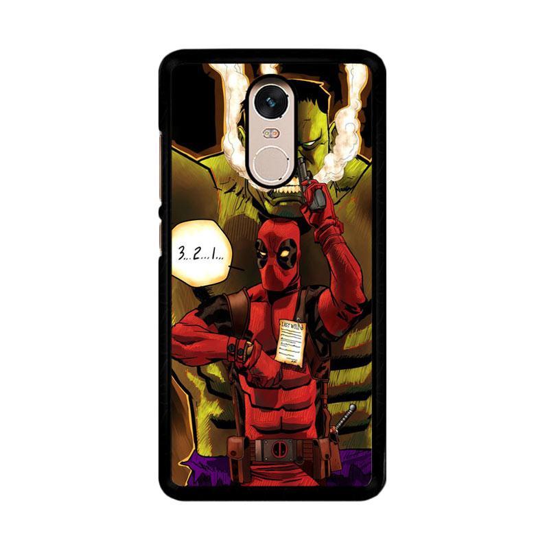 Flazzstore Deadpool The Hulk Z0164 Custom Casing for Xiaomi Redmi Note 4 or Note 4X Snapdragon Mediatek