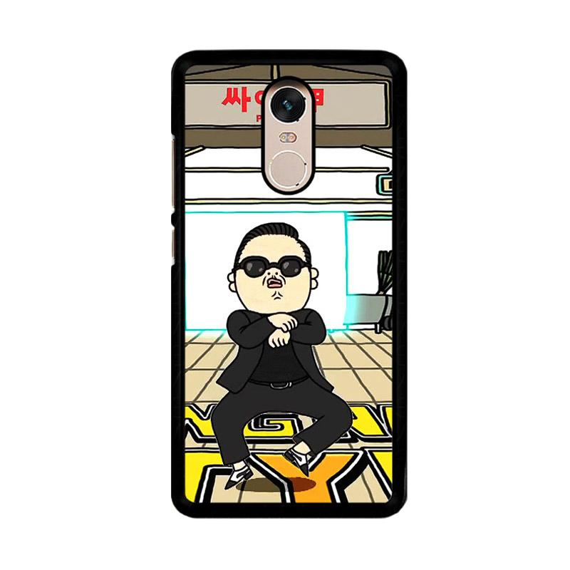 Flazzstore Gangnam Style Psy Dancing Z0185 Custom Casing for Xiaomi Redmi Note 4 or Note 4X Snapdragon Mediatek