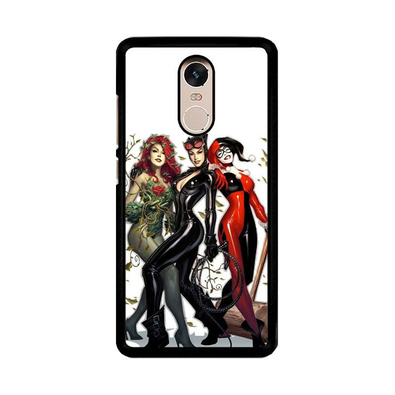 Flazzstore Poison Ivy Harley Quinn Batgirl And Catwoman Z0225 Custom Casing for Xiaomi Redmi Note 4 or Note 4X Snapdragon Mediatek