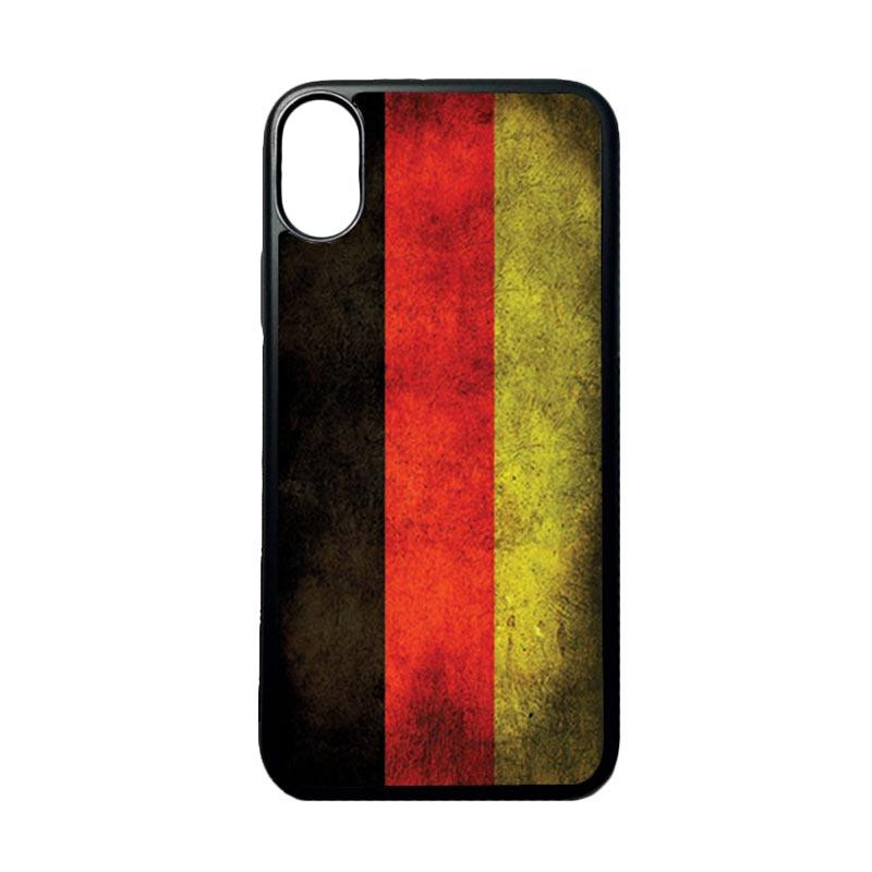 HEAVENCASE Motif Bendera Jerman Softcase Casing for Iphone X - Hitam
