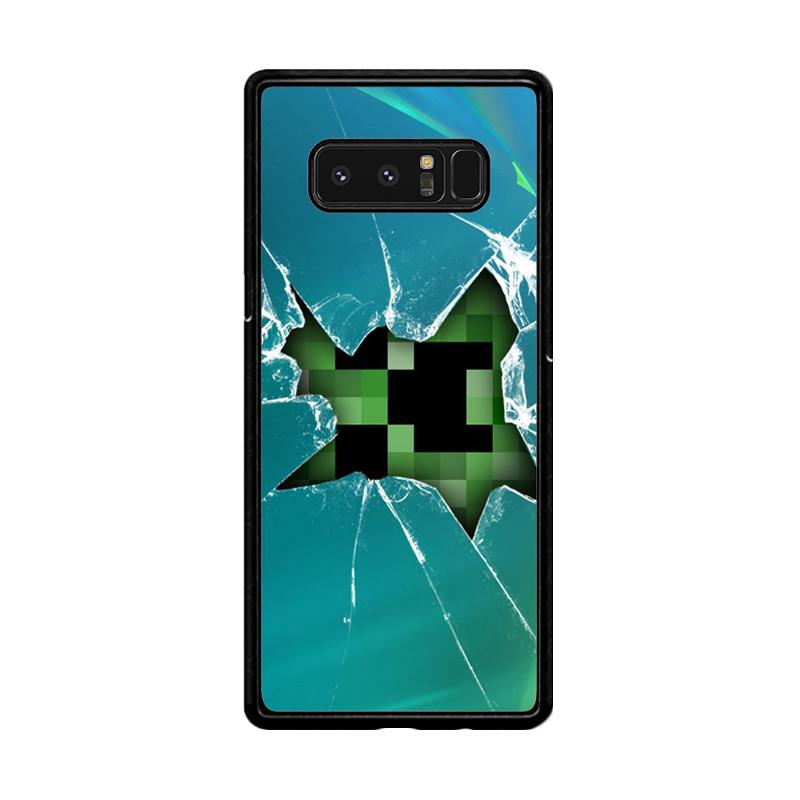 Flazzstore Minecraft Creeper Broken Glasses F0519 Custom Casing for Samsung Galaxy Note8