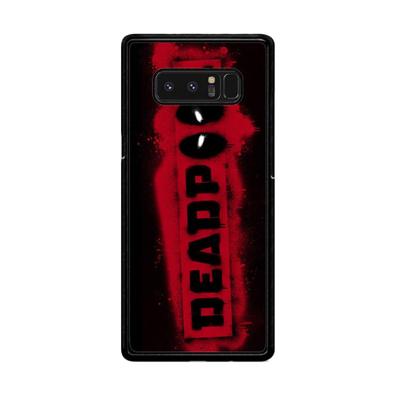Flazzstore Deadpool Logo Brush Z1241 Custom Casing for Samsung Galaxy Note8