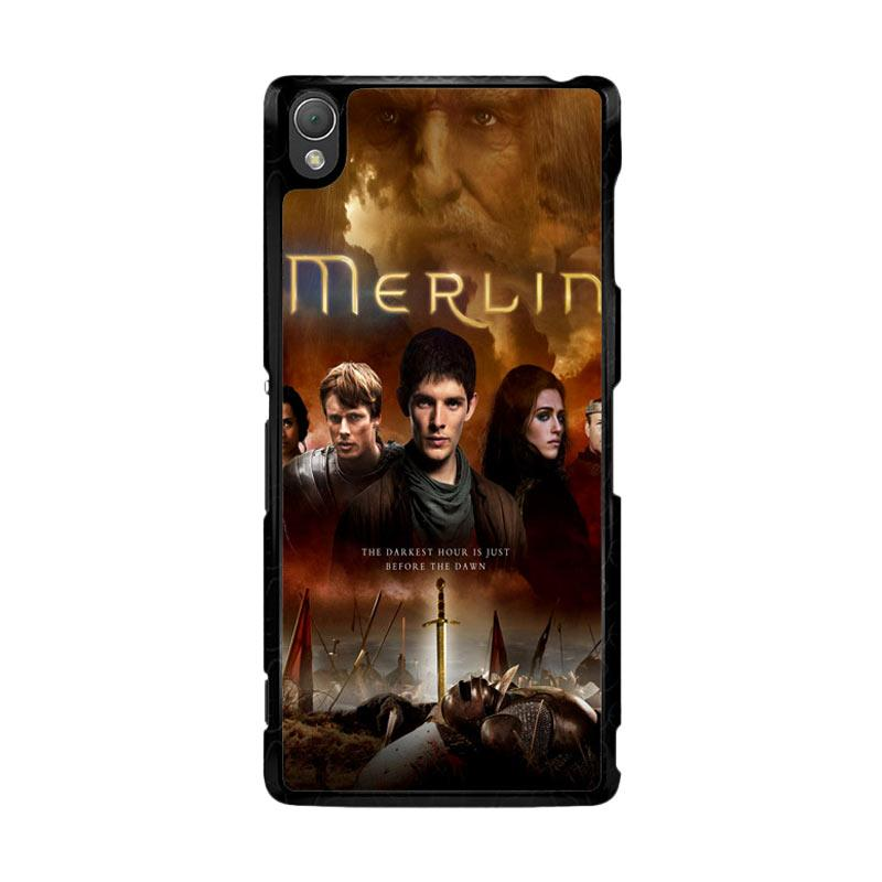 Flazzstore Merlin Fantasy Adventure Television Z0556 Custom Casing for Sony Xperia Z3