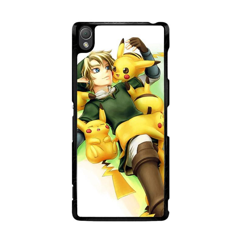 Flazzstore Zelda With Pikachu Pokemon Z1061 Custom Casing for SONY Xperia Z3