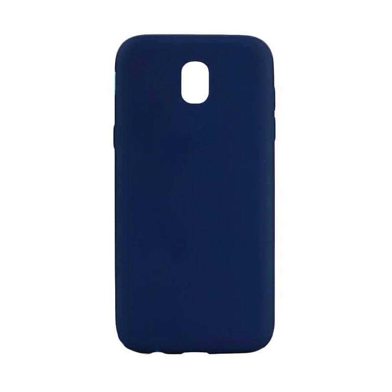 Lize Design Silikon Casing for Samsung Galaxy J7 Pro 2017 - Biru Tua [Anti Glare]