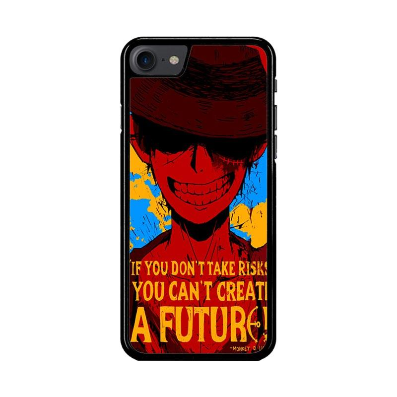 Flazzstore Luffy One Piece Quote Z1572 Custom Casing for iPhone 7 or 8