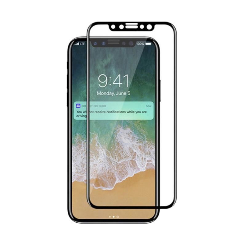 Universal Premium Tempered Glass Screen Protector for iPhone X [5D Technology/ Full Coverage and Curved]