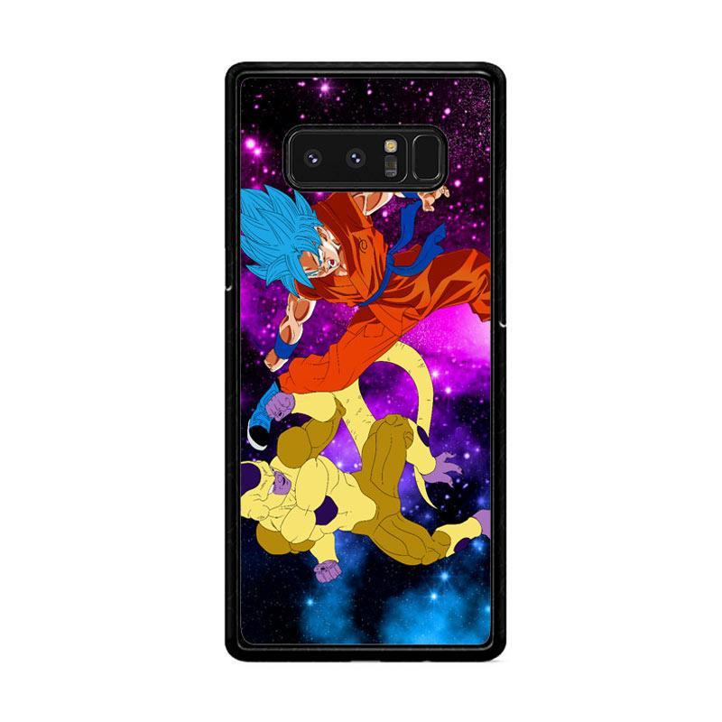 Flazzstore Gold Frieza Vs Goku Super Saiyan God Z2615 Custom Casing for Samsung Galaxy Note 8