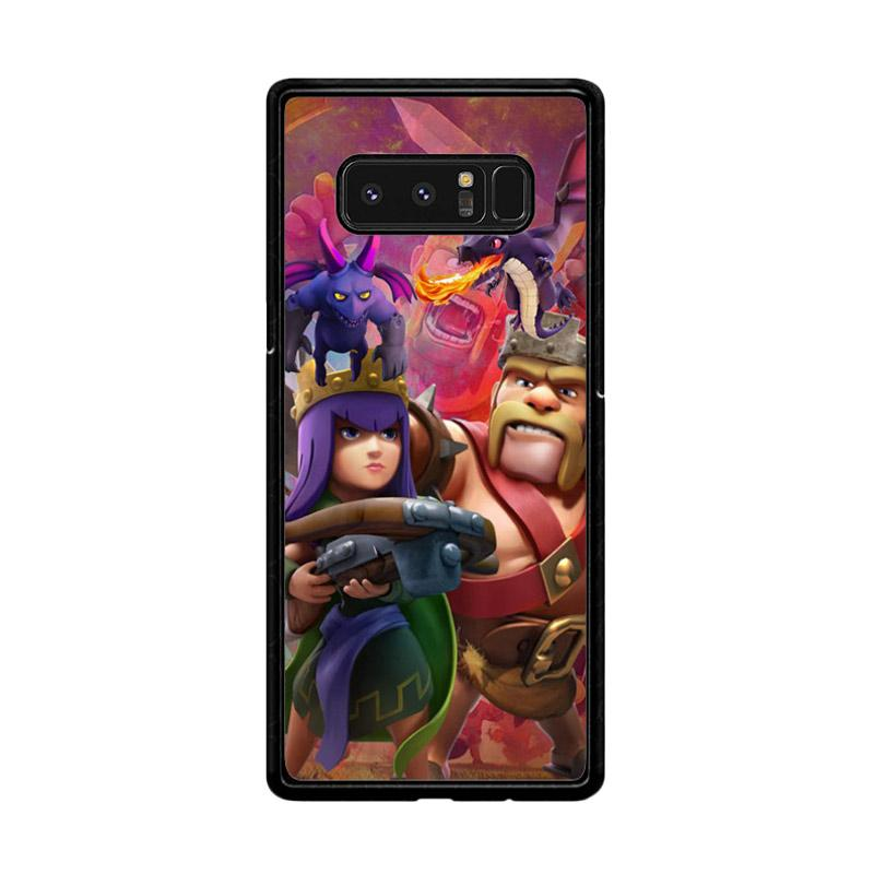 Flazzstore Clash Of Clans Game Z2756 Custom Casing for Samsung Galaxy Note8